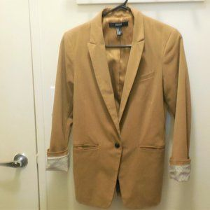 Ladies Blazer Size S/ Forever 21,roll up sleeves